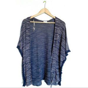 Maison Jules Knit Fringe Cardigan Size Large